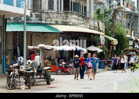Escena callejera, Kompong Cham, Camboya