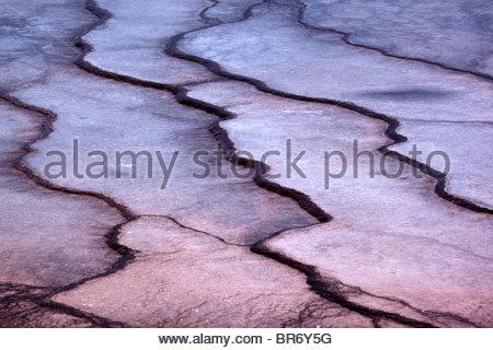 Grand Prismatic Spring bacterianas patrones de Mat, el Parque Nacional Yellowstone, Wyoming