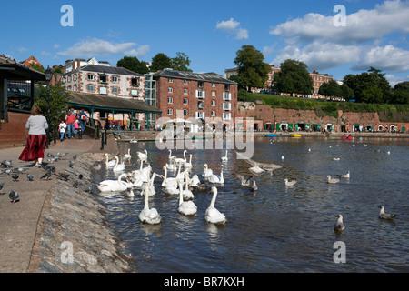 La zona de Quayside y el Río Exe en Exeter