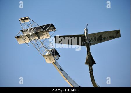 """Escultura Conmemorativa """"El espíritu de vuelo"""", (detalle). Lanark Loch, Lanark, Lanarkshire, Escocia, Reino Unido, Europa."""