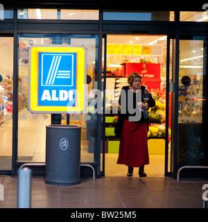 Aldi supermercados de descuento UK Foto de stock