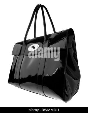 Mulberry bolso negro de cuero suave y brillante de patentes