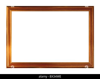 Marco de imagen de oro, aislado en blanco
