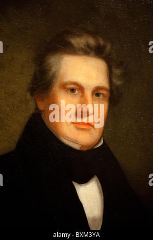 Pintura de 13º Presidente Millard Fillmore, artista desconocido, 1843 Foto de stock