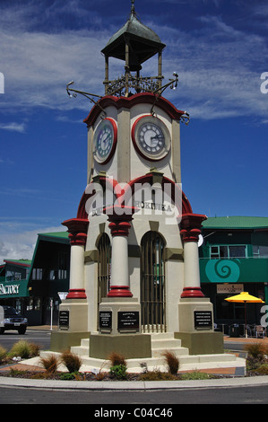 Hokitika Memorial Clocktower, suelde Street, Hokitika, Westland distrito, región de la Costa Oeste, Isla del Sur, Nueva Zelanda