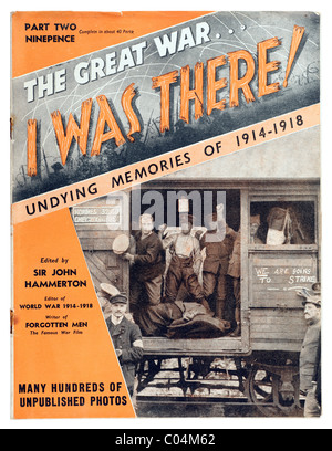 """Vintage 1914 1918 primera guerra mundial Magazine titulada """"La Gran Guerra estuve allí ' --Parte dos al precio ninepence. Sólo EDITORIAL"""