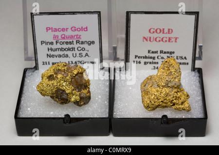 Pepitas de oro natural - Nevada EE.UU.