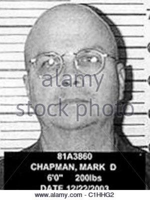 Mark David Chapman Mugshot Foto de stock