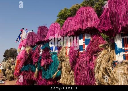 Máscaras de Bobo, festividades, Sikasso ciudad, Malí, África