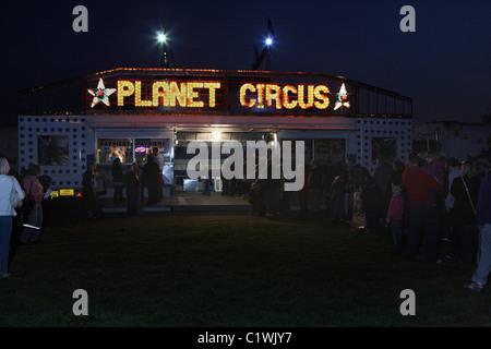 Taquilla de la noche en el circo