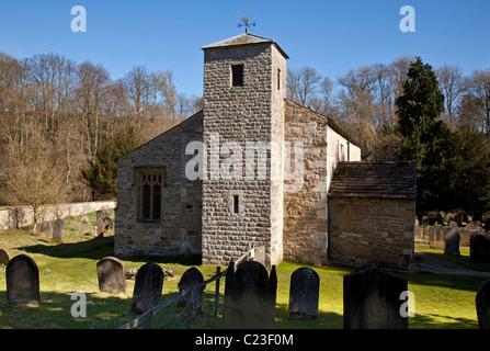 San Gregorio Minster, Kirkdale cerca de Kirkby Moorside, North Yorkshire Foto de stock