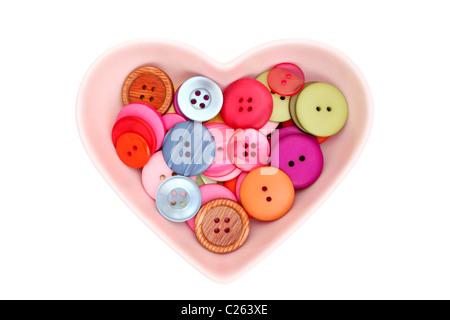 Botones en la placa de forma corazón