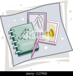 planificador de bodas iconos foto imagen de stock 130734813 alamy