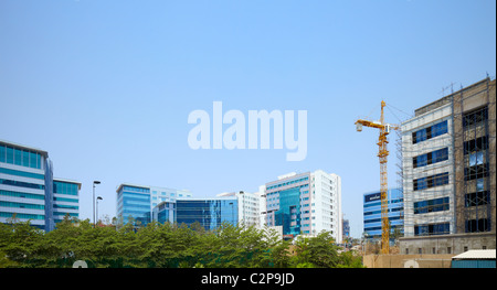 Hyderabad, India, desarrollo, crecimiento, negocios, color, vibrante, calle nueva, vieja, Holi, finanzas, dinero, Foto de stock
