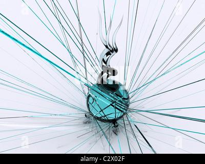 Resumen de vidrio. 3d