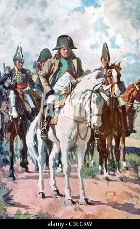 Napoleón Bonaparte (1769-1821) fue un líder político y militar francés, que se convirtió en el emperador de Francia. Foto de stock