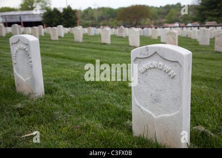 La Tumba del Soldado Desconocido en el Cementerio Nacional de Knoxville Foto de stock