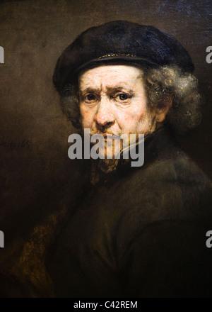 """'Self-portrait"""" por Rembrandt van Rijn, 1659 Foto de stock"""