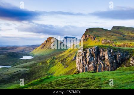 El Quiraing, Isla de Skye, Escocia, Reino Unido. Foto de stock