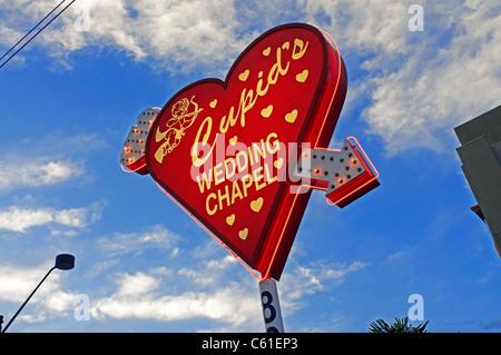 La capilla de bodas Cupidos Las Vegas NV Nevada Foto de stock