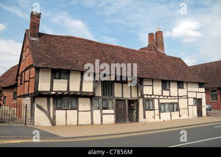 Mason's Court, un edificio medieval construido en 1450, Rother Street, Stratford Upon Avon, Warwickshire, Reino Unido.