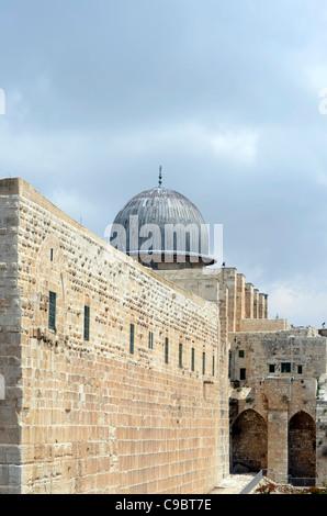 Israel, Jerusalén, Ciudad Vieja, la Mezquita de Al Aqsa en el Monte del Templo