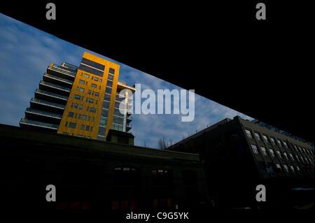 El 13 de diciembre, 2011 - Portland, Oregon, Estados Unidos.- El edificio de Casey en el distrito de la perla en el centro de Portland, Oregon. (Crédito de la Imagen: © Jim Z. Rider/ZUMAPRESS.com)