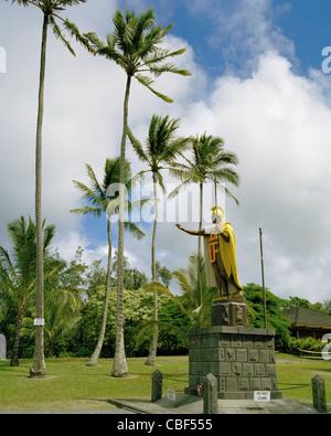Original de la estatua del rey Kamehameha I Kapa'au norte distrito Kohala de la Isla Grande de Hawai