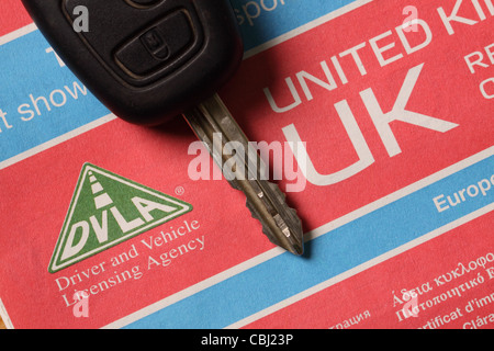 V5C Certificado de registro de vehículo DVLA alquiler de documento
