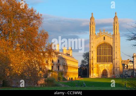 Reino Unido, Inglaterra, Cambridgeshire, Cambridge, la espalda, la Capilla de King's College