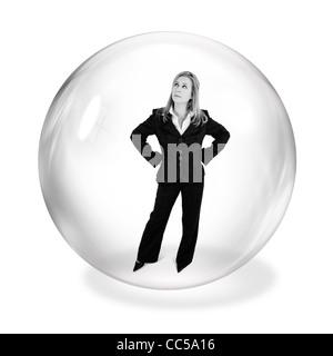 La empresaria en la burbuja