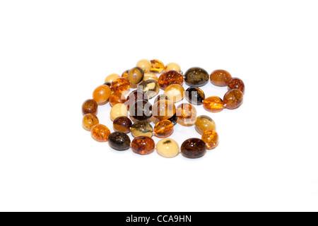 Collar de perlas de ámbar de diferentes tipos