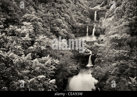 UmaUma Falls. Hawai, la Isla Grande.