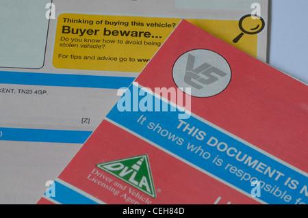 Documento de matriculación del vehículo V5C
