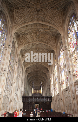 Inglaterra, Cambridgeshire, Cambridge, la Capilla de King's College