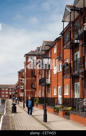 Reino Unido, Gales, Swansea, Barrio Marítimo, waterfront apartamentos en Victoria Quay