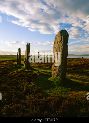 Anillo de Brodgar Stone Henge y círculo, mirando hacia el lago de Harray.