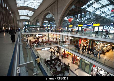 La Hauptbahnhof Leipzig, Sajonia, Alemania, Europa