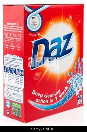 Caja de Daz detergente en polvo