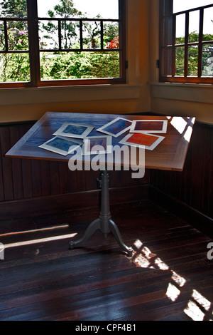 Winslow Homer artist studio Prouts Cuello Scarborough, Maine. El lugar favorecido en el Homer studio.