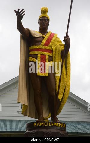 Elk284-3306v, Hawaii HI, N Kohala, Kamehameha la gran estatua, rey de la familia real de Hawai