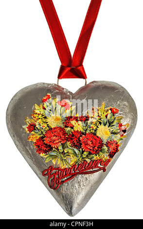 Comida, chocolate, corazón de chocolate, en hojalata, Munich, Alemania, alrededor de 1959, Derechos adicionales-Clearences-no disponible