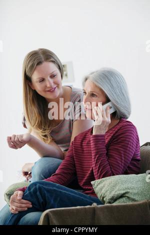 Anciano y adolescente