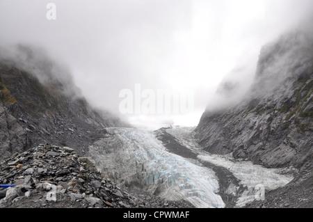 Cara Terminal del glaciar Franz Josef Costa Oeste de la Isla Sur de Nueva Zelanda
