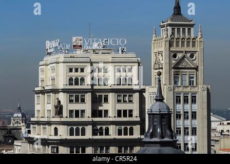 España Madrid Edificio De Telefónica Primer Rascacielos