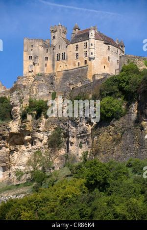 Francia, Dordogne, Périgord Noir, Beynac et Cazenac, etiquetados Les Plus Beaux aldeas de Francia, el Château de Beynac