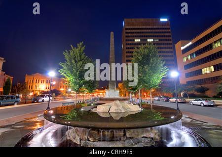 Pack Square en el centro de Asheville, Carolina del Norte, EE.UU.