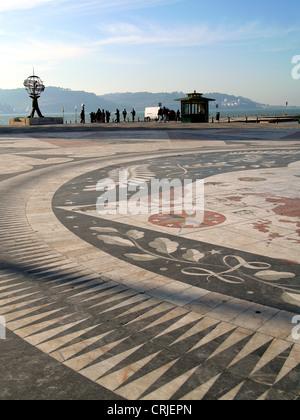 Lugar conmemorativo en Belm para los exploradores famosos que ponen en sus viajes de descubrimiento desde aquí, Portugal, Lisboa