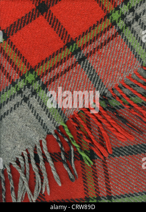 Tela escocesa rojo