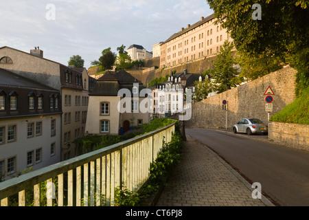 Ver en el barrio 'Grund' de la ciudad de Luxemburgo